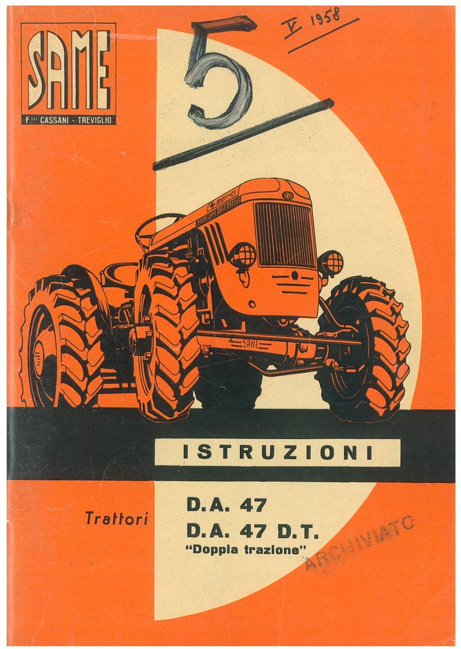 D.A 47 - D.A. 47 D.T. - Libretto uso & manutenzione