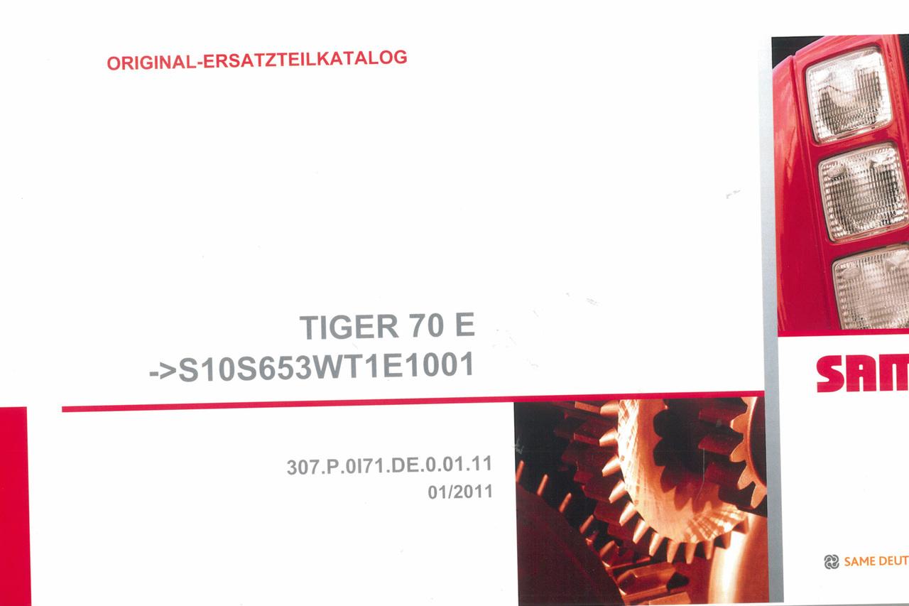 TIGER 70 E ->S10S653WT1E1001 - Original-Ersatzteilkatalog