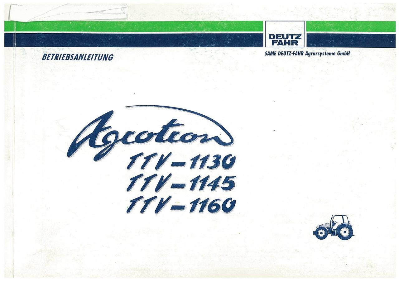 AGROTRON TTV 1130-1145-1160 - Betriebsanleitung