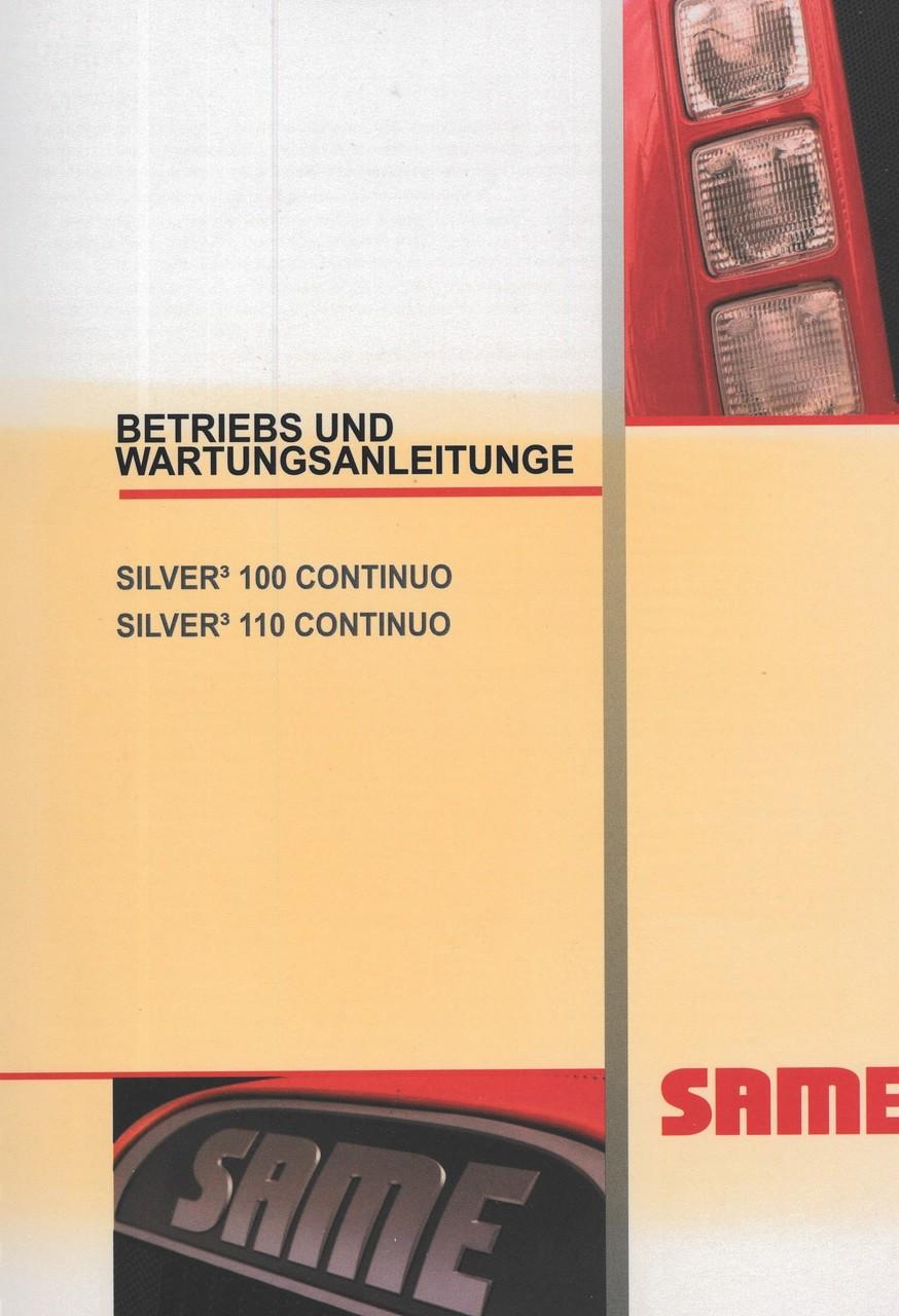 SILVER³ 100 CONTINUO - SILVER³ 110 CONTINUO - Betriebs und Wartungsanleitung