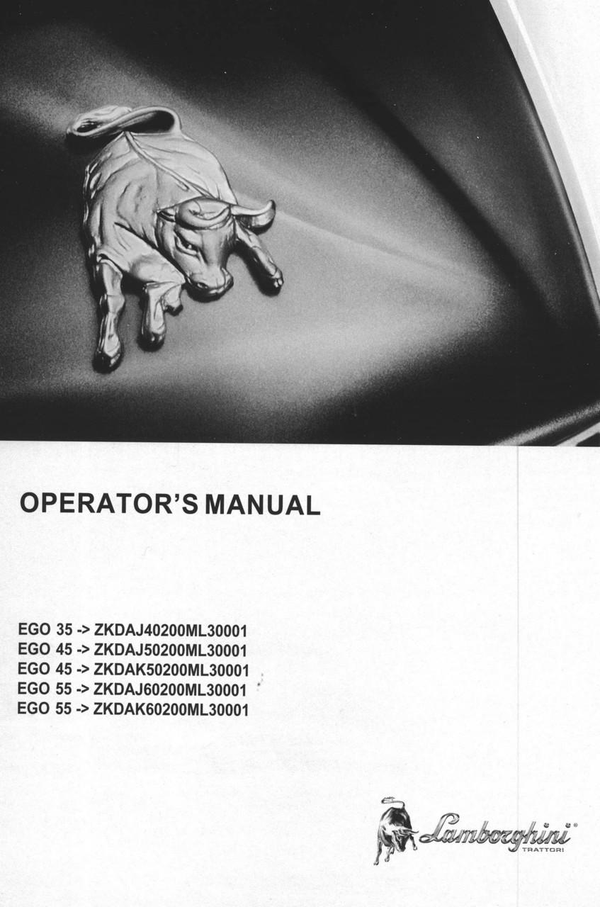 EGO 35 ->ZKDAJ40200ML30001 - EGO 45 ->ZKDAJ50200ML30001 - EGO 45 ->ZKDAK50200ML30001 - EGO 55 ->ZKDAJ60200ML30001 - EGO 55 ->ZKDAK60200ML30001 - Operator's manual
