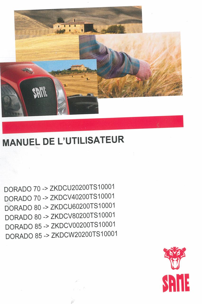 DORADO 70 ->ZKDCU20200TS10001 - DORADO 70 ->ZKDCV40200TS10001 - DORADO 80 ->ZKDCU60200TS10001 - DORADO 80 ->ZKDCV80200TS10001 - DORADO 85 ->ZKDCV00200TS10001 - DORADO 85 ->ZKDCW20200TS10001 - Manuel de l'utilisateur