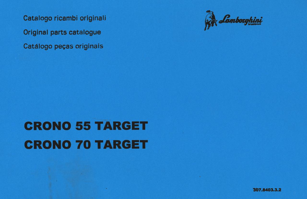CRONO 55 TARGET - CRONO 70 TARGET - Catalogo ricambi originali / Original parts catalogue / Catalogo peças originais