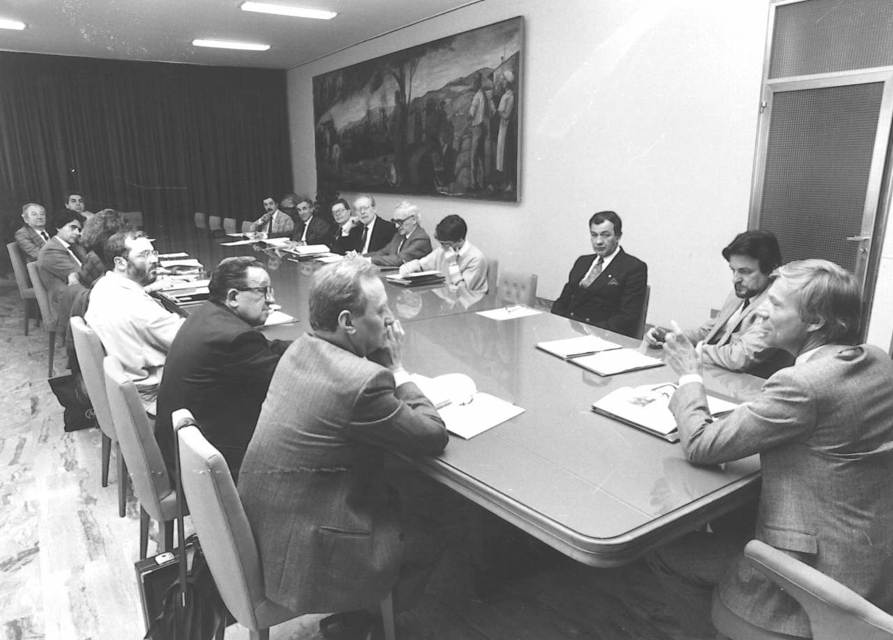 Dirigenti del Gruppo SLH in riunione con l'Ing. Gerald Hampel