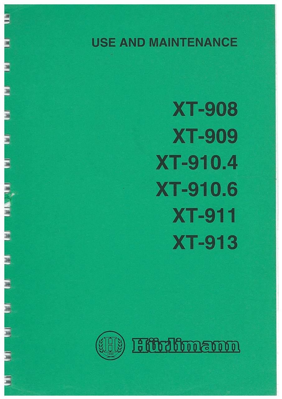 XT 908-909-910.4-910.6-911-913 - Operating and Maintenance