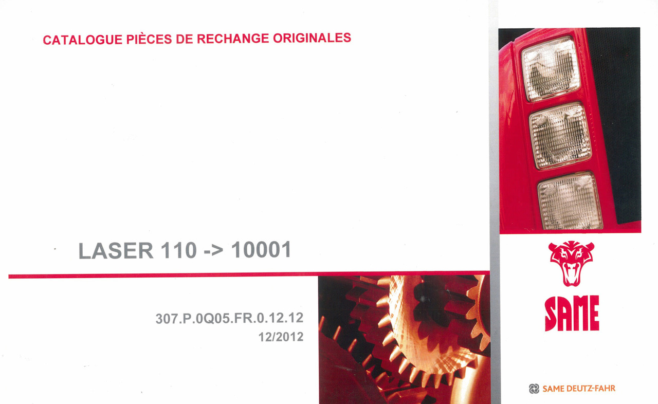 LASER 110 -> 10001 - Catalogue pièces de rechange originales
