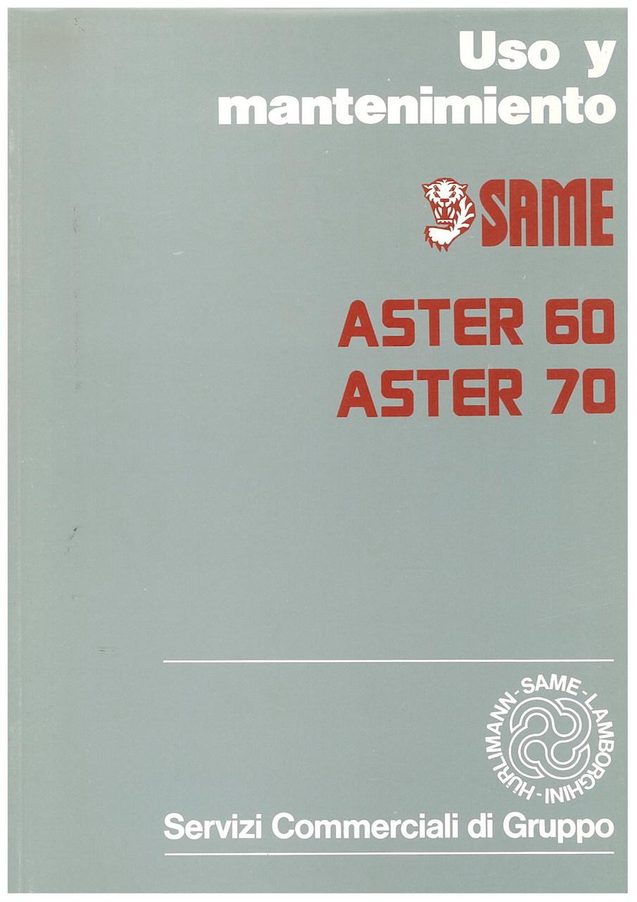 ASTER 60 - ASTER 70 - Uso y manutencion