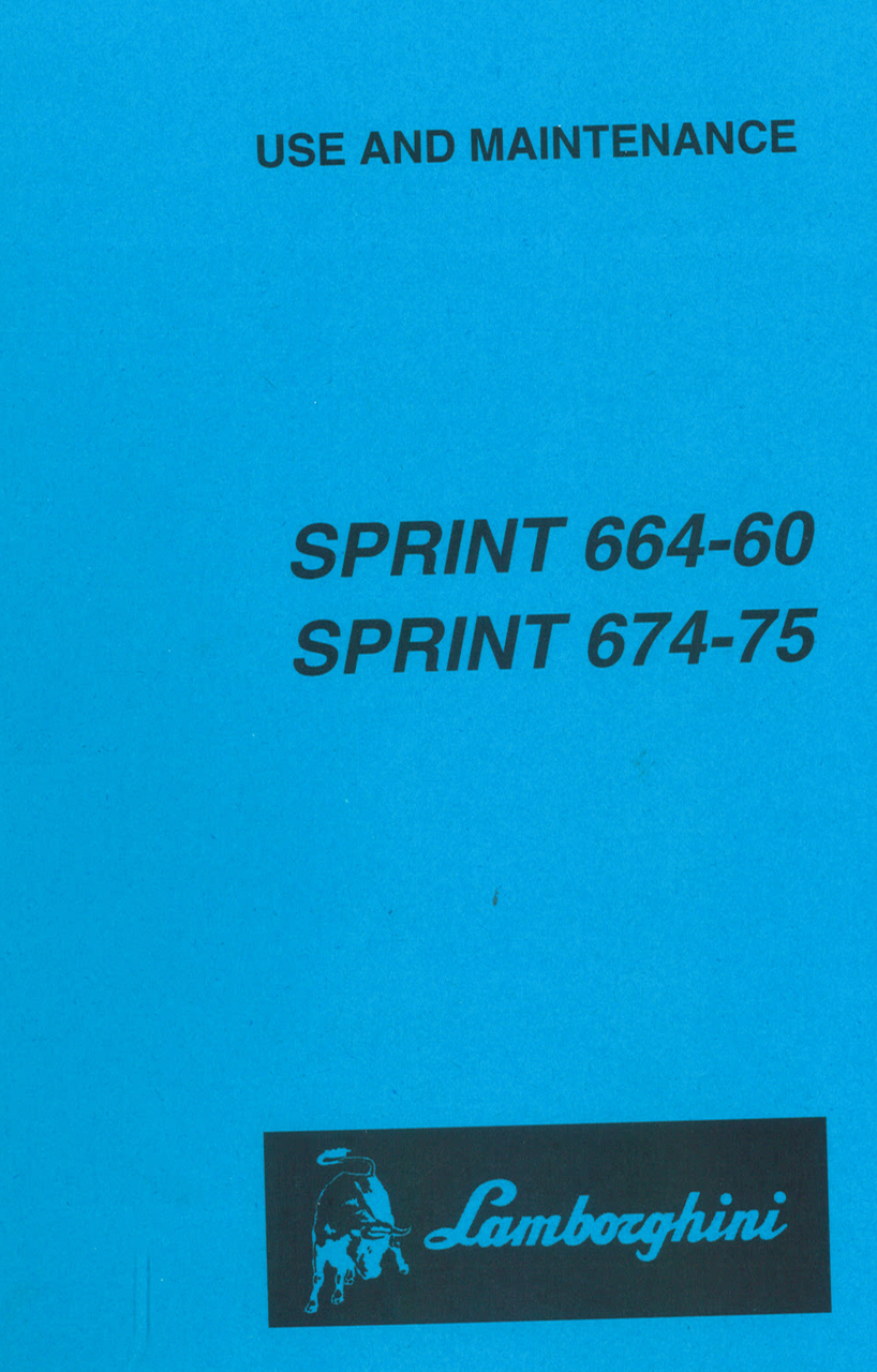 SPRINT 664-60 - SPRINT 674-75 - Use and maintenance