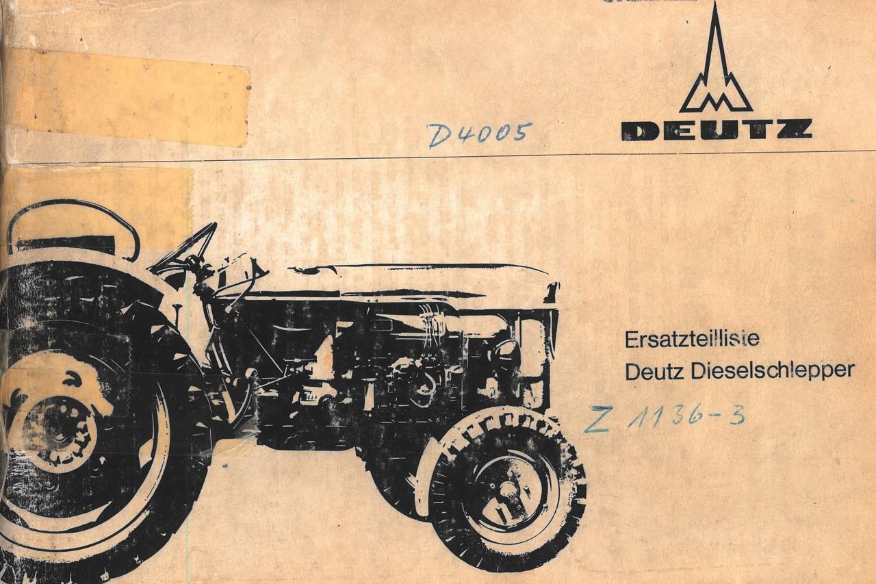 D 4005 - Ersatzteilliste