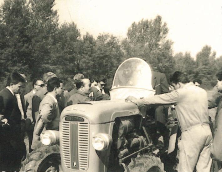 Prove in campo del trattore SAME 240 a Buccinasco (Milano)