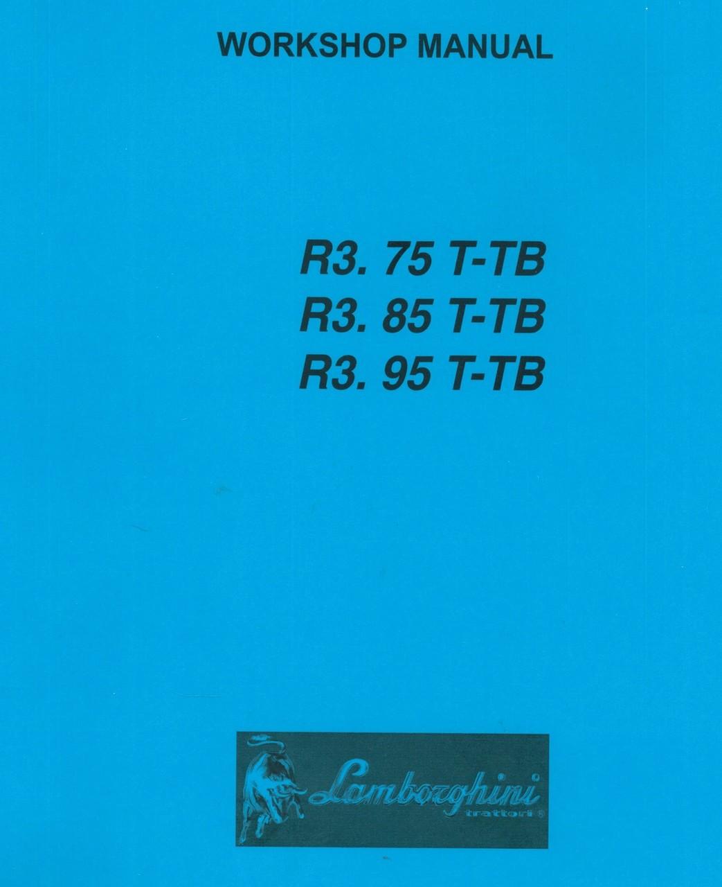 R3.75 T-TB - R3.85 T-TB - R3.95 T-TB - Workshop manual