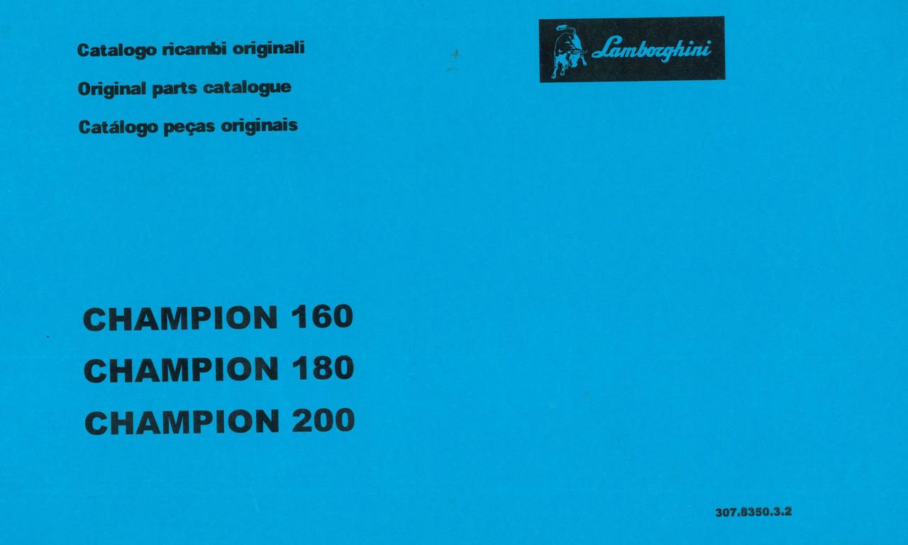 CHAMPION 160 - 180 - 200 - Catalogo ricambi originali / Original parts catalogue / Catalogo peças originais