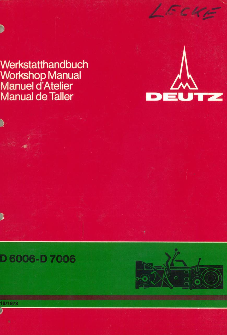 D 60 06 - D 70 06 - Getriebe - Power train - Transmission - Transmision - Werkstatthandbuch - Workshop manual - Manuel d'atelier - Manual de taller