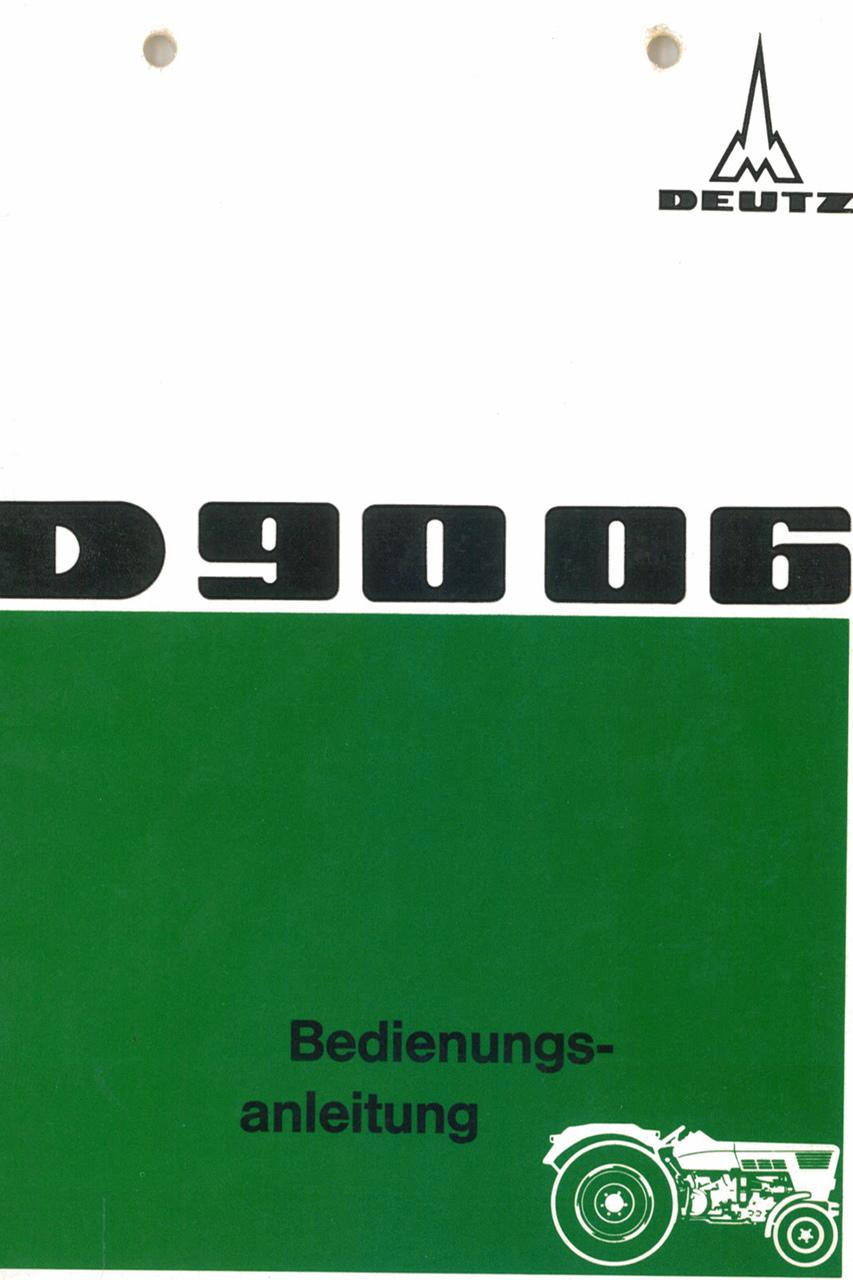 D 90 06 - Bedienungsanleitung