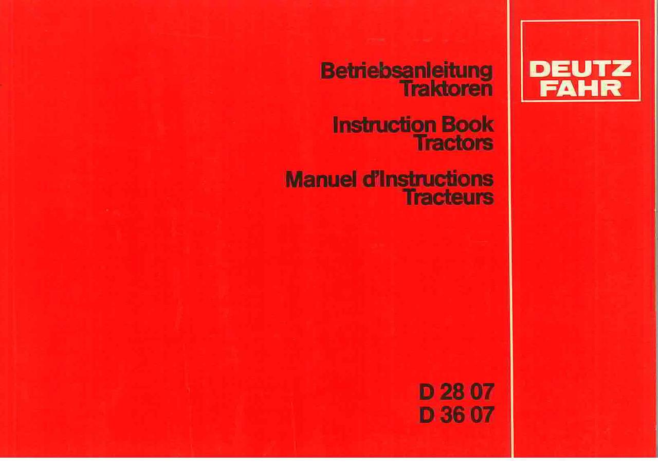 D 28 07-38 07 - Betreibanleitung Traktoren