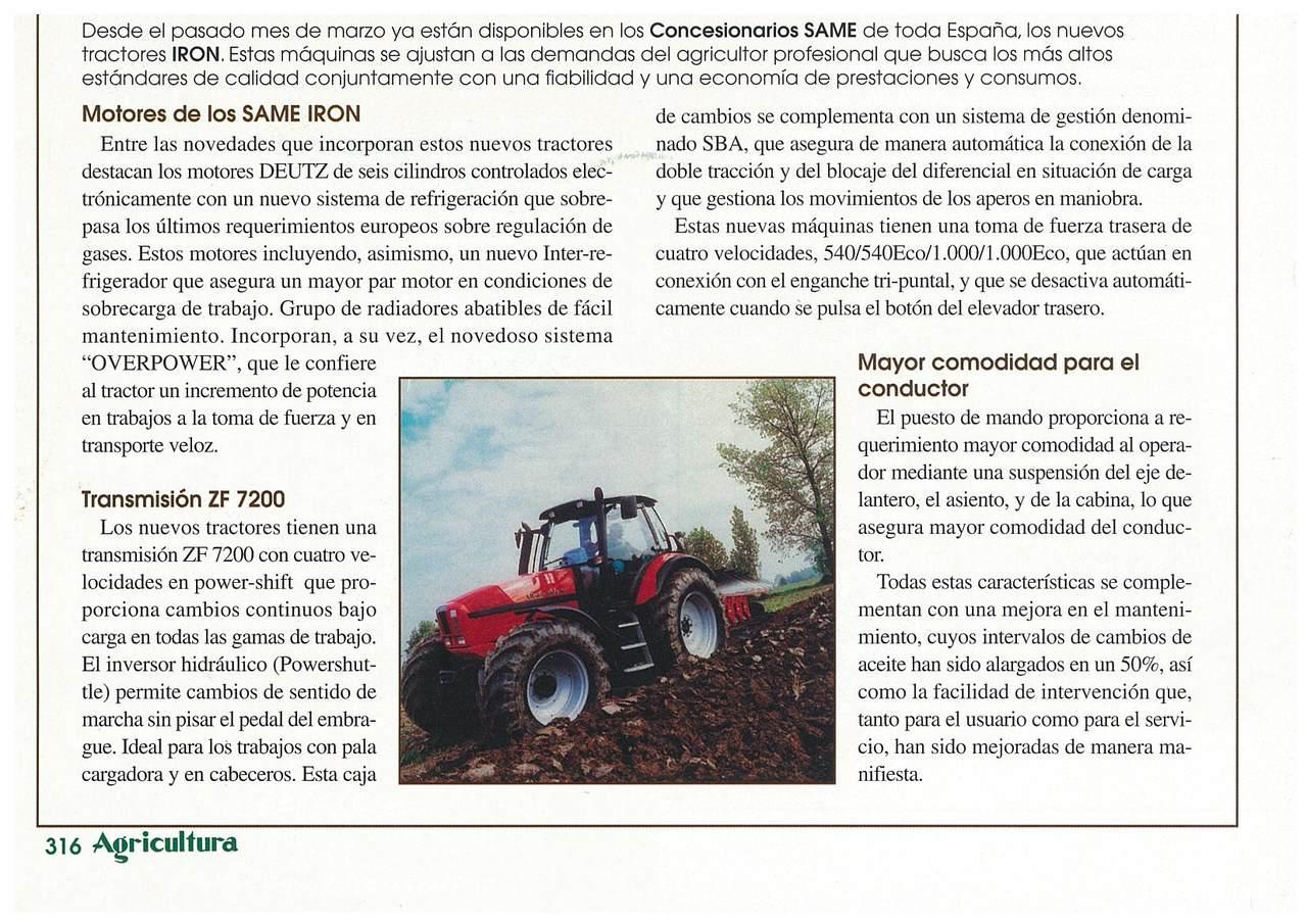 Nuevos Tractores SAME Iron de 136-176 CV
