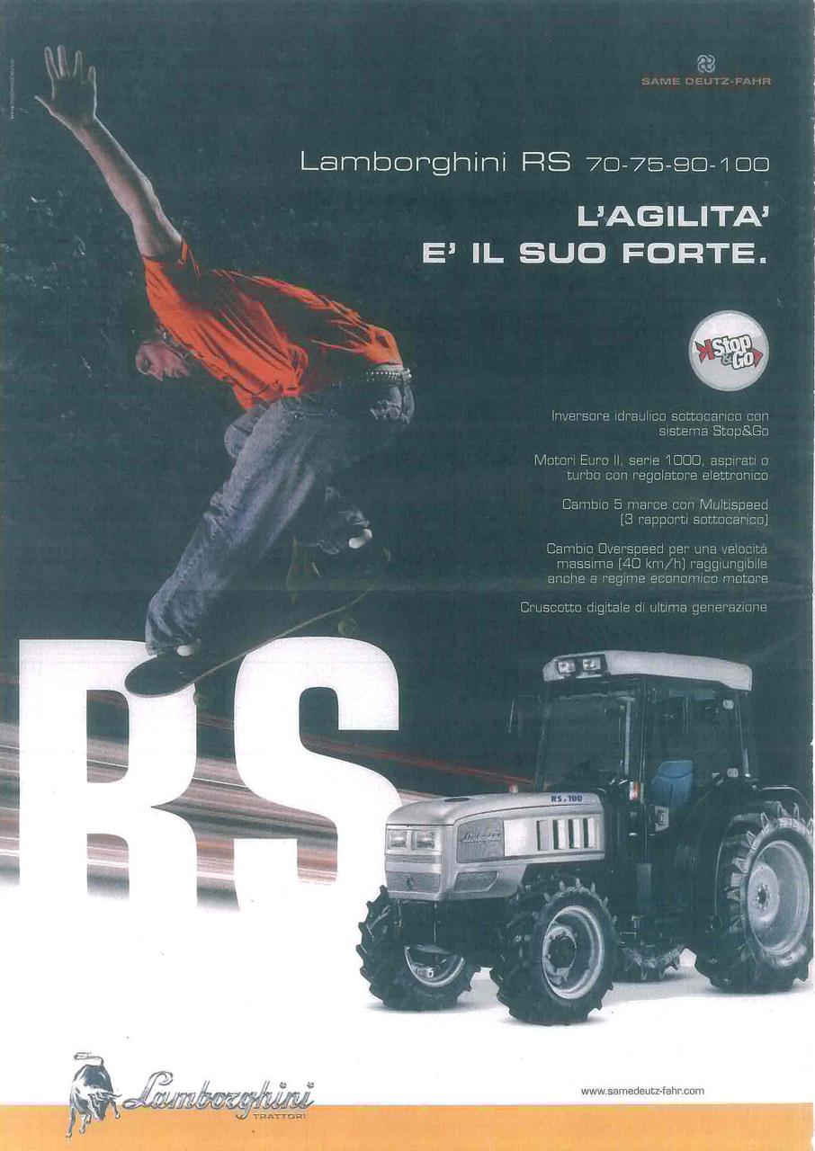 Lamborghini RS 70 - 75 - 90 - 100 L'agilità è il suo forte