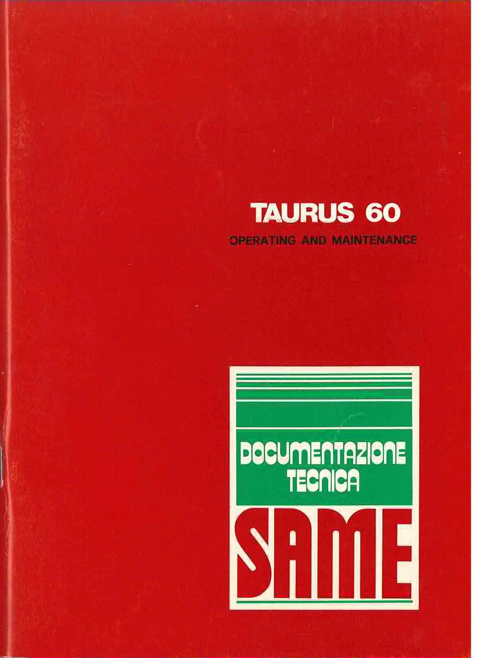 TAURUS 60 - Operating and maintenance