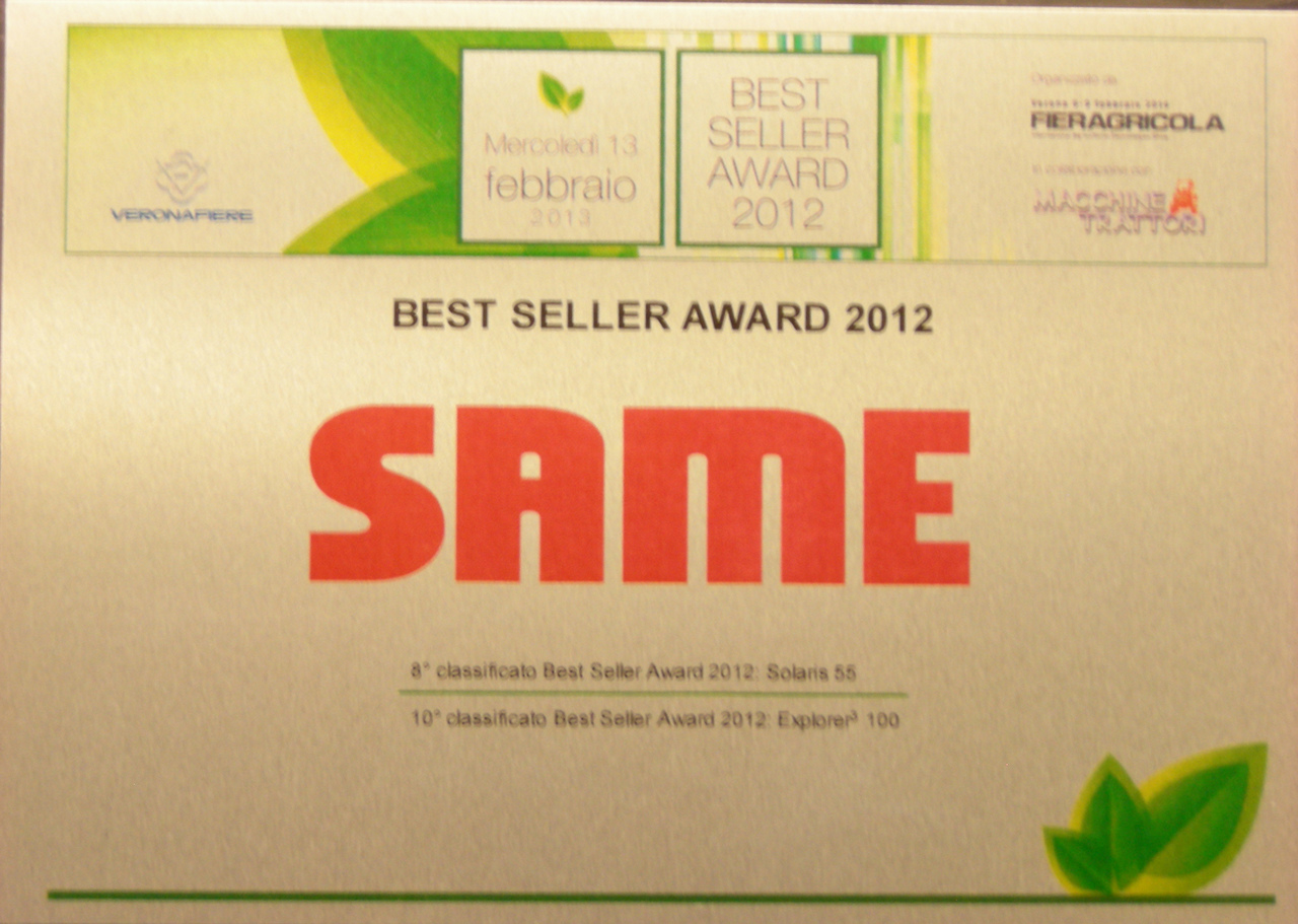 Best Seller Award 2012