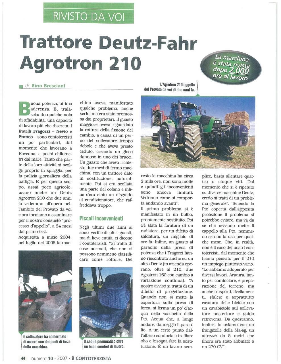 Trattore Deutz-Fahr Agrotron 210