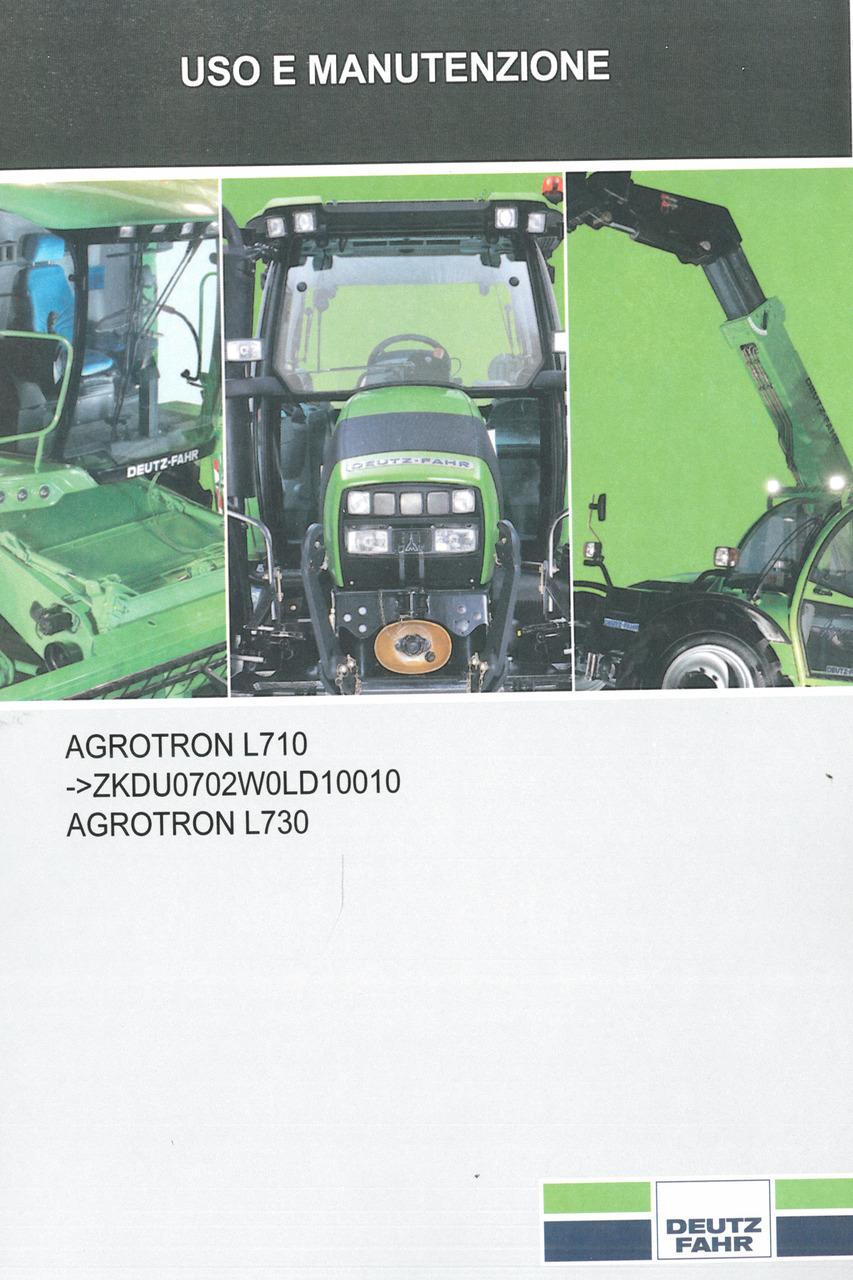 AGROTRON L710 -> ZKDU0702W0LD10010 - AGROTRON L730 - Uso e manutenzione