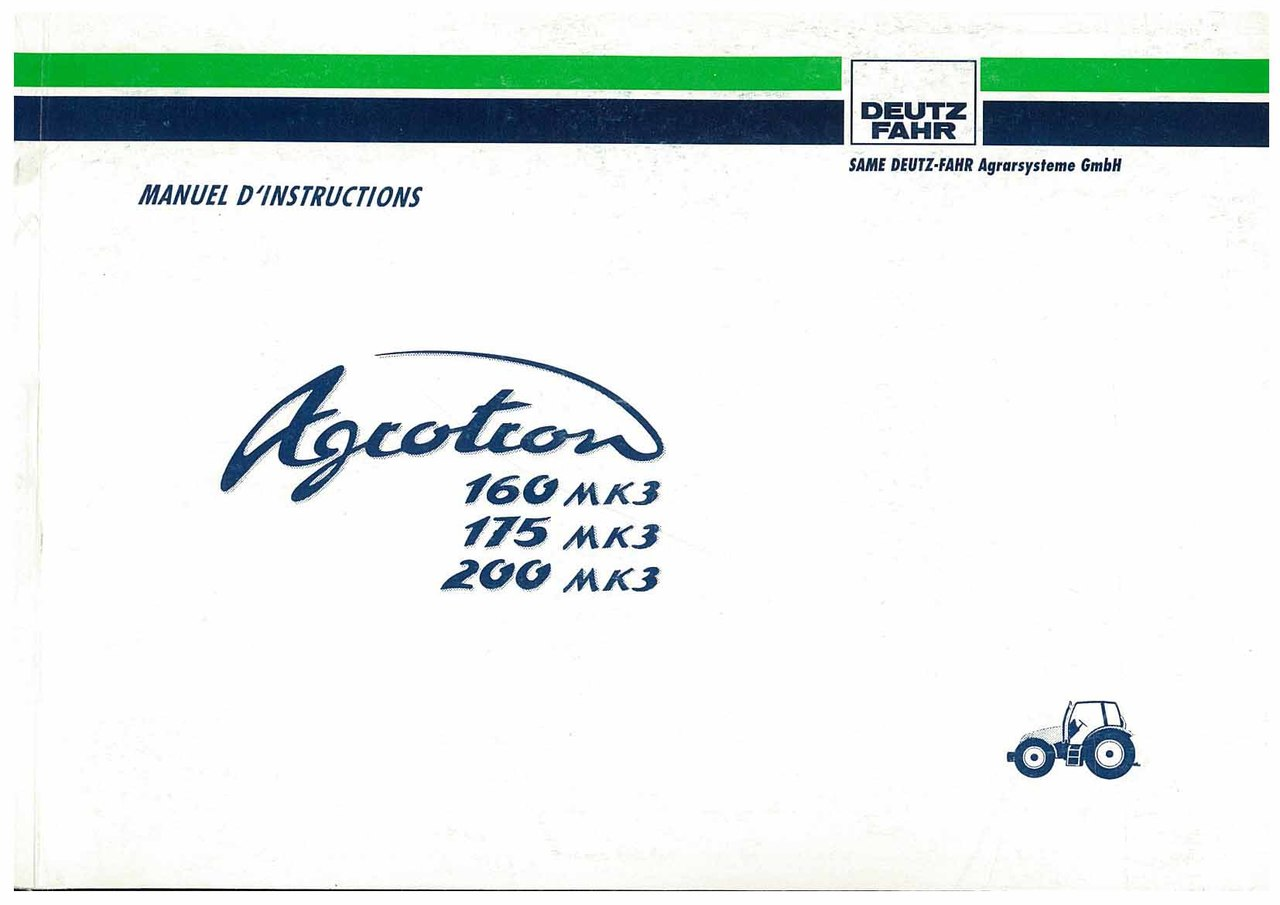 AGROTRON MK3 160-175-200 - Utilisation et Entretien