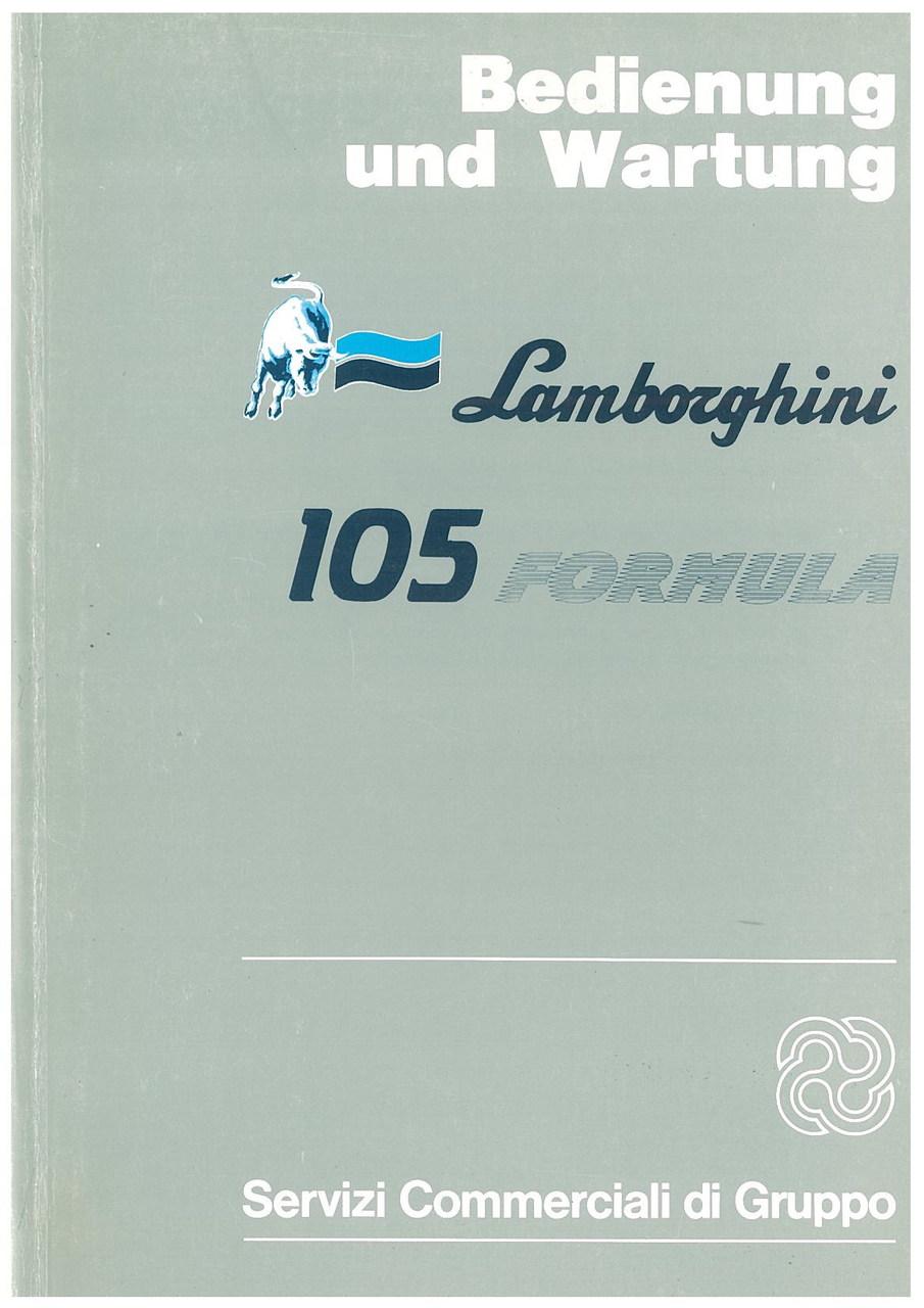 105 FORMULA - Bedienung und Wartung
