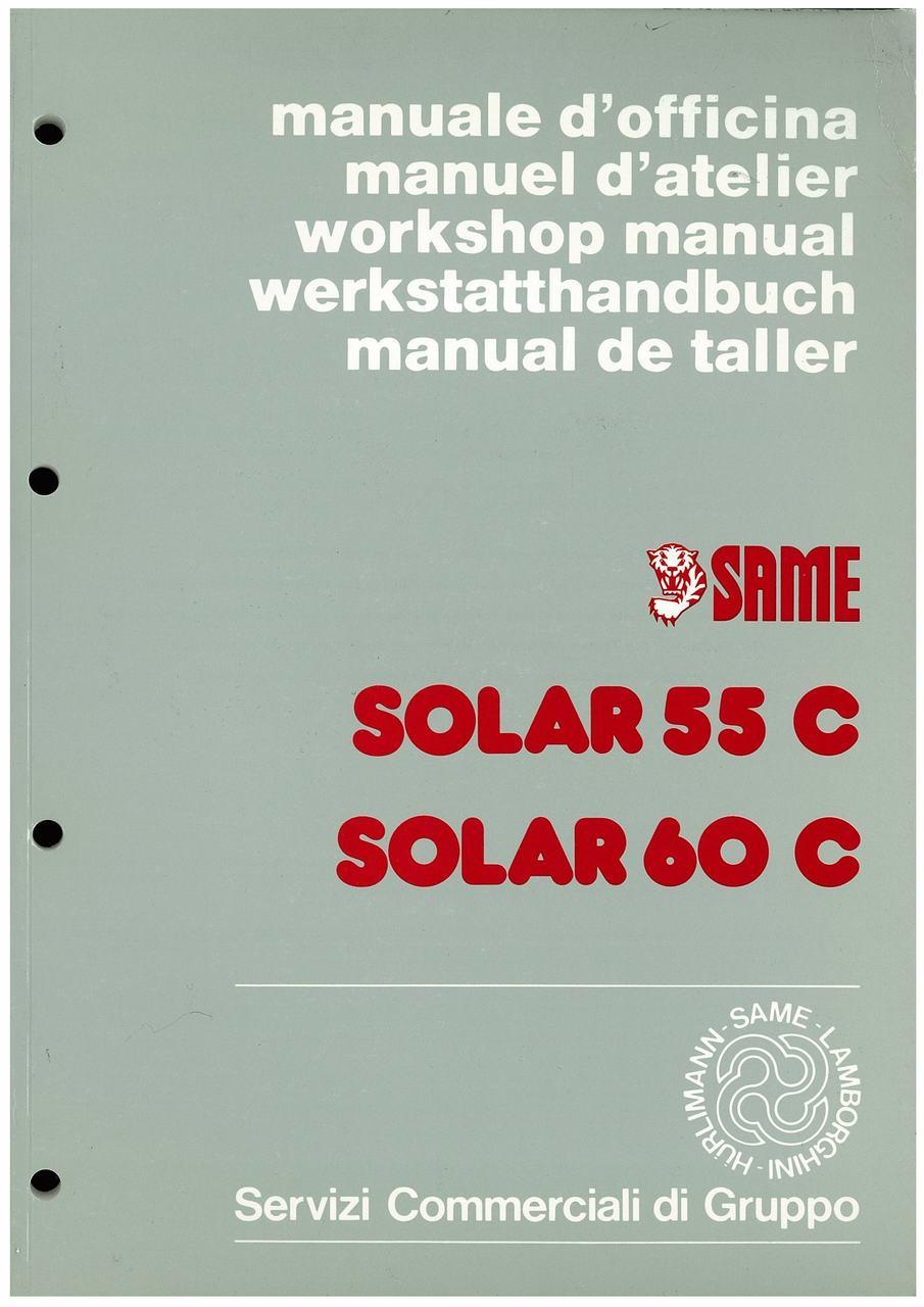 SOLAR 55 - 60 C - Manuale d'officina