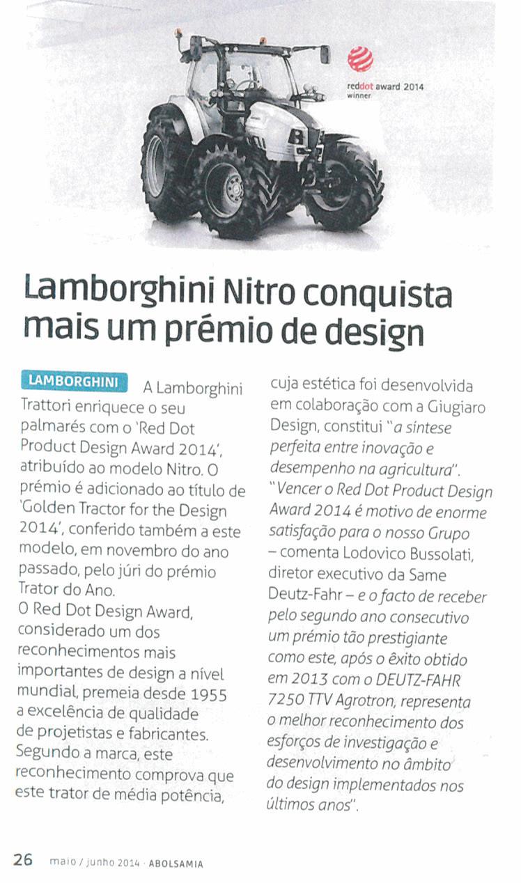 Lamborghini Nitro conquista mais um prémio de design