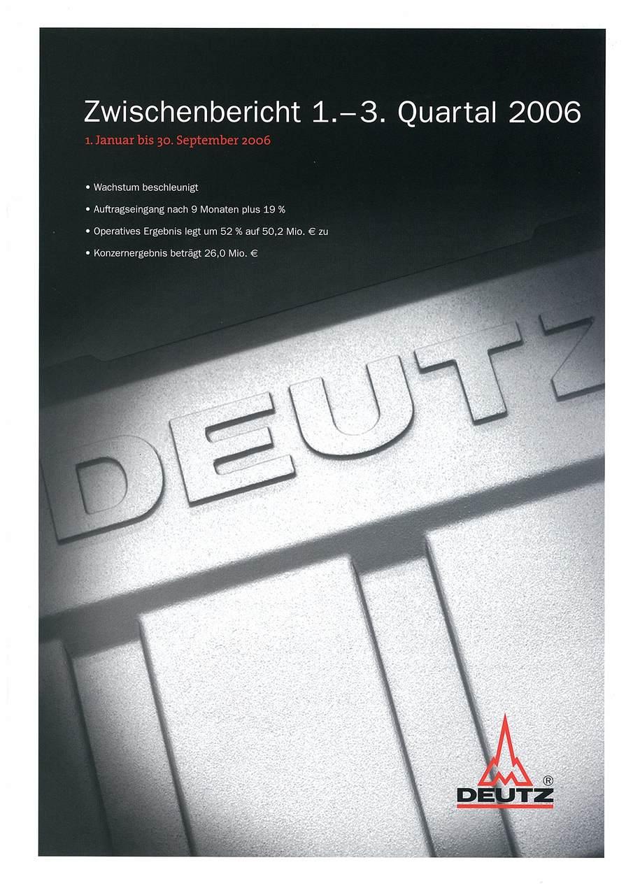Deutz: Annual Report 2006 1-3 quartal