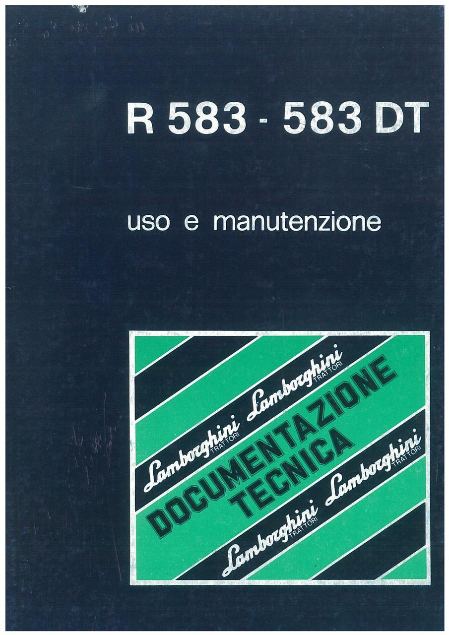 R 583 - 583 DT - Libretto uso & manutenzione