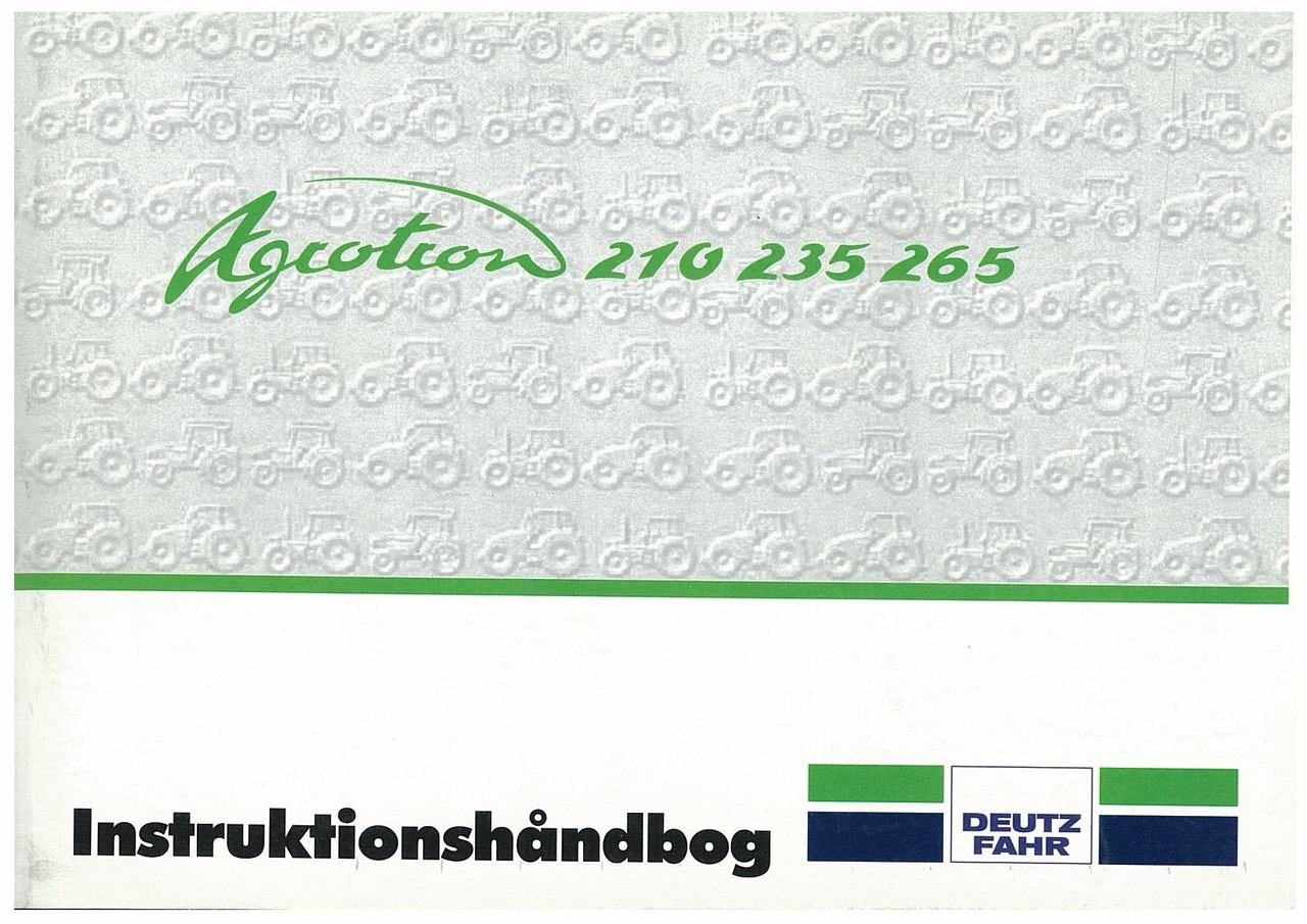 AGROTRON 210-235-265 - Instruktieboek