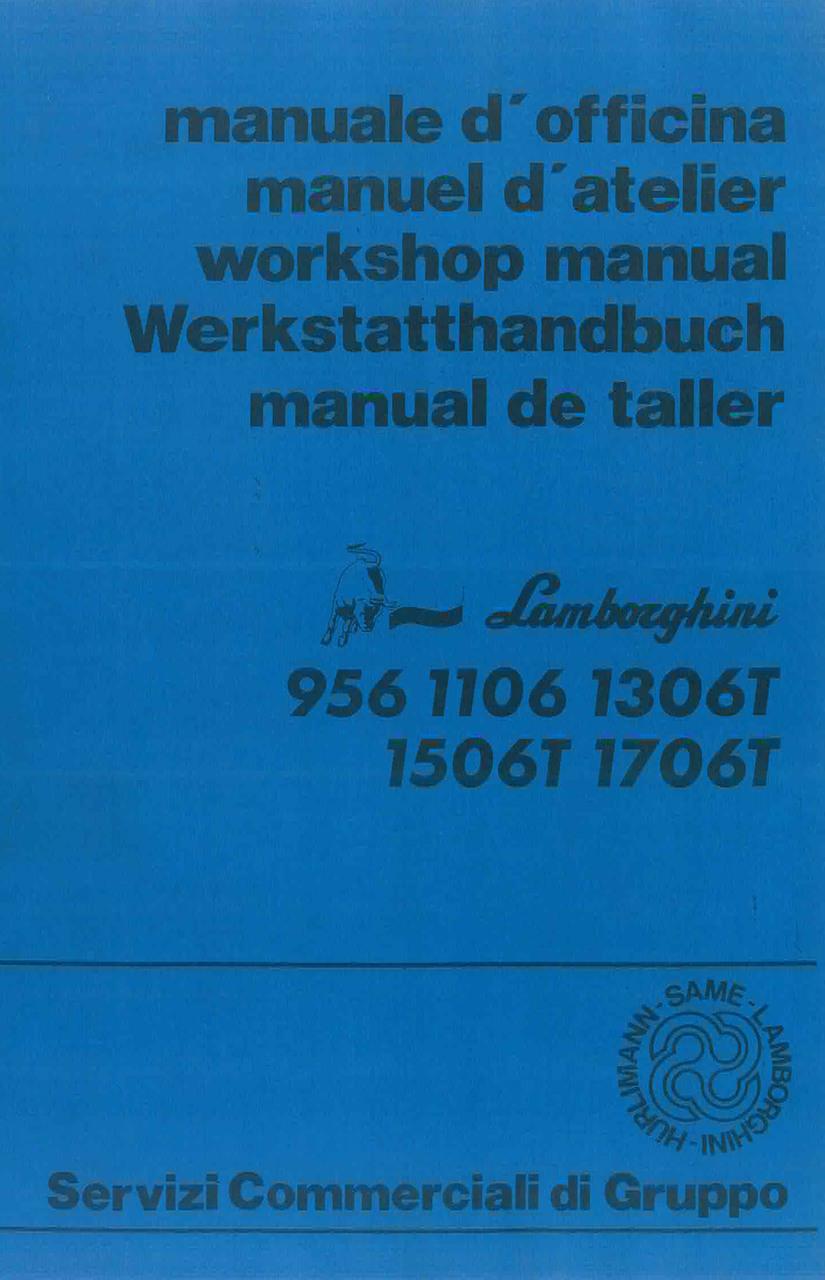 956 - 1106 - 1306 T - 1506 T - 1706 T - Werkstatthandbuch