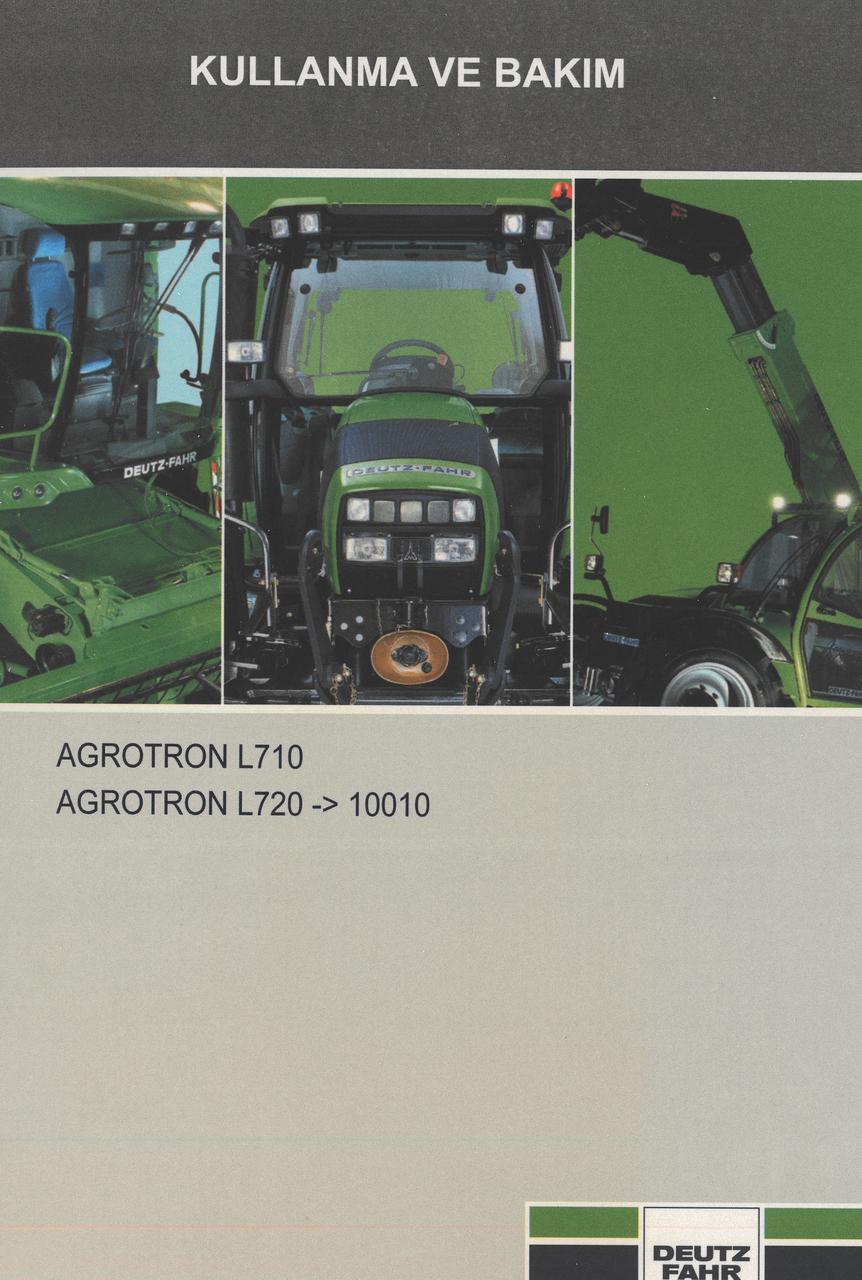 AGROTRON L710 - AGROTRON L720 ->10001 - Kullanma ve bakim