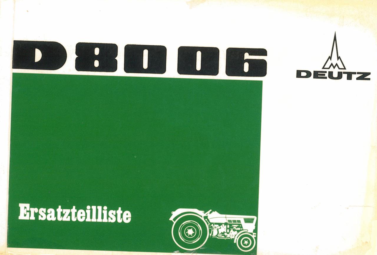 D 8006 - Ersatzteilliste