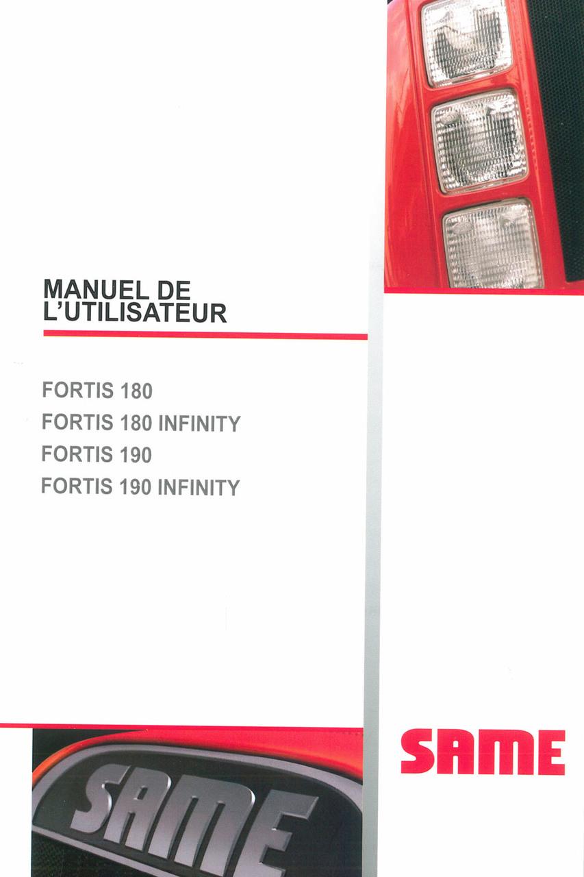 FORTIS 180 - FORTIS 180 INFINITY - FORTIS 190 - FORTIS 190 INFINITY - Manuel de l'utilisateur