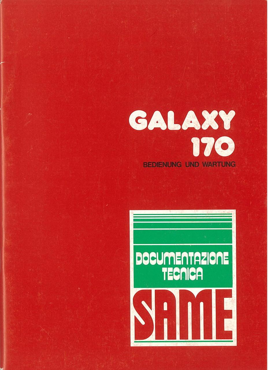 GALAXY 170 - Bedienung und instandhalthung