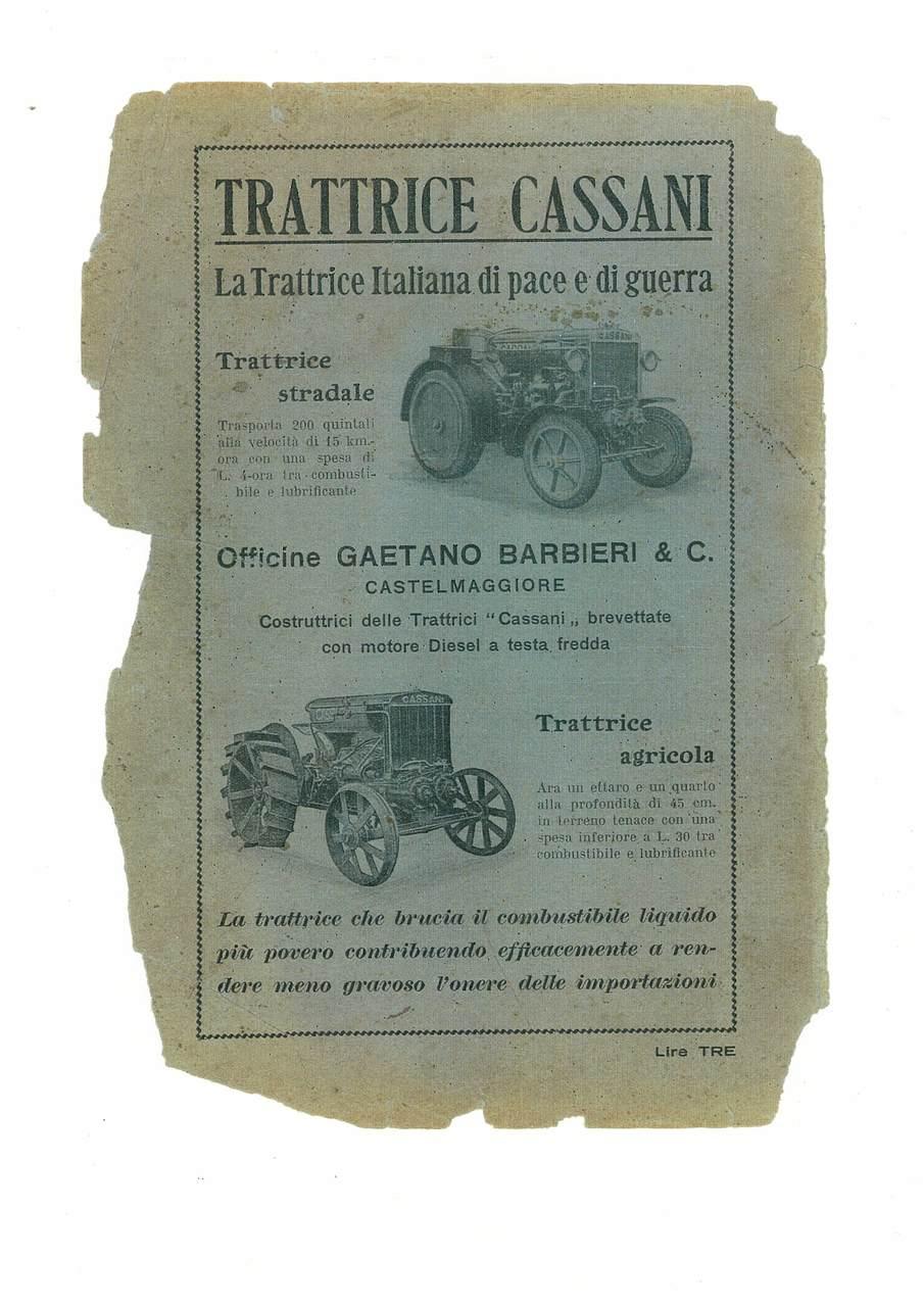 Trattrice CASSANI - La trattrice italiana di pace e di guerra