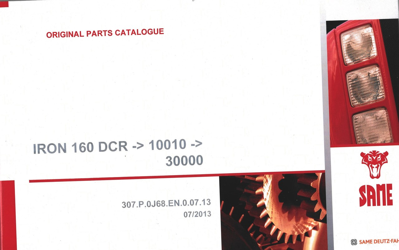 IRON 160 DCR ->10001 ->30000 - Original parts catalogue