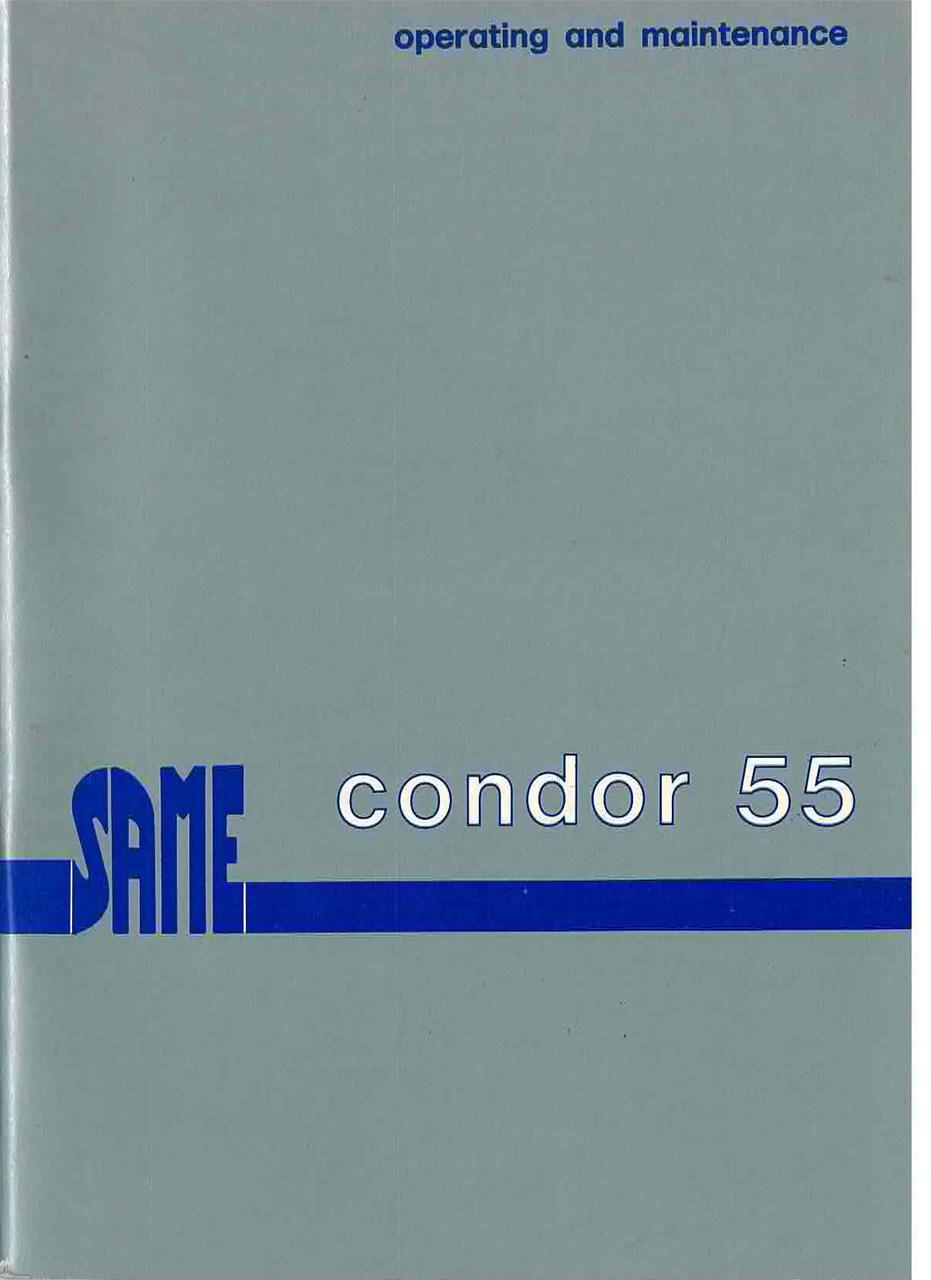 CONDOR 55 - Operating and maintenance