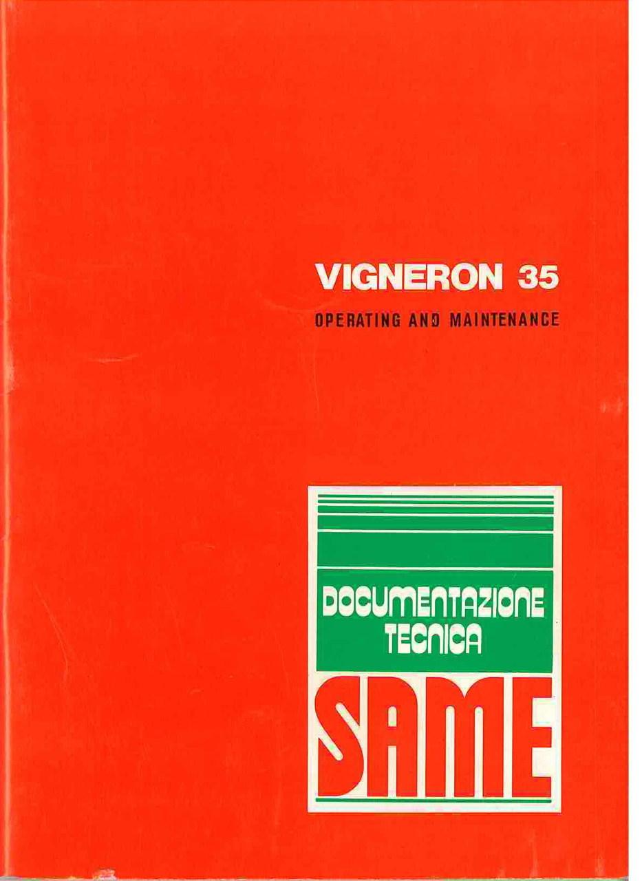 VIGNERON 35 - Operating and maintenance