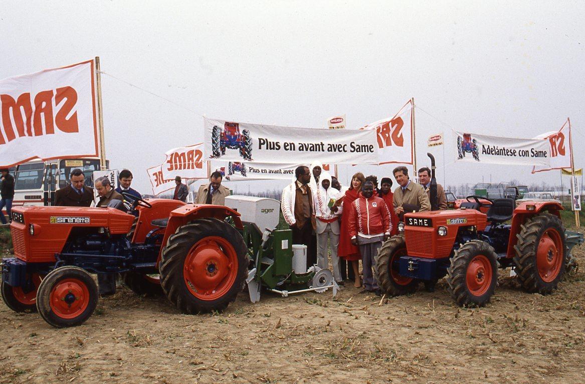 Prove in campo di trattori Sirenetta e Delfino 35