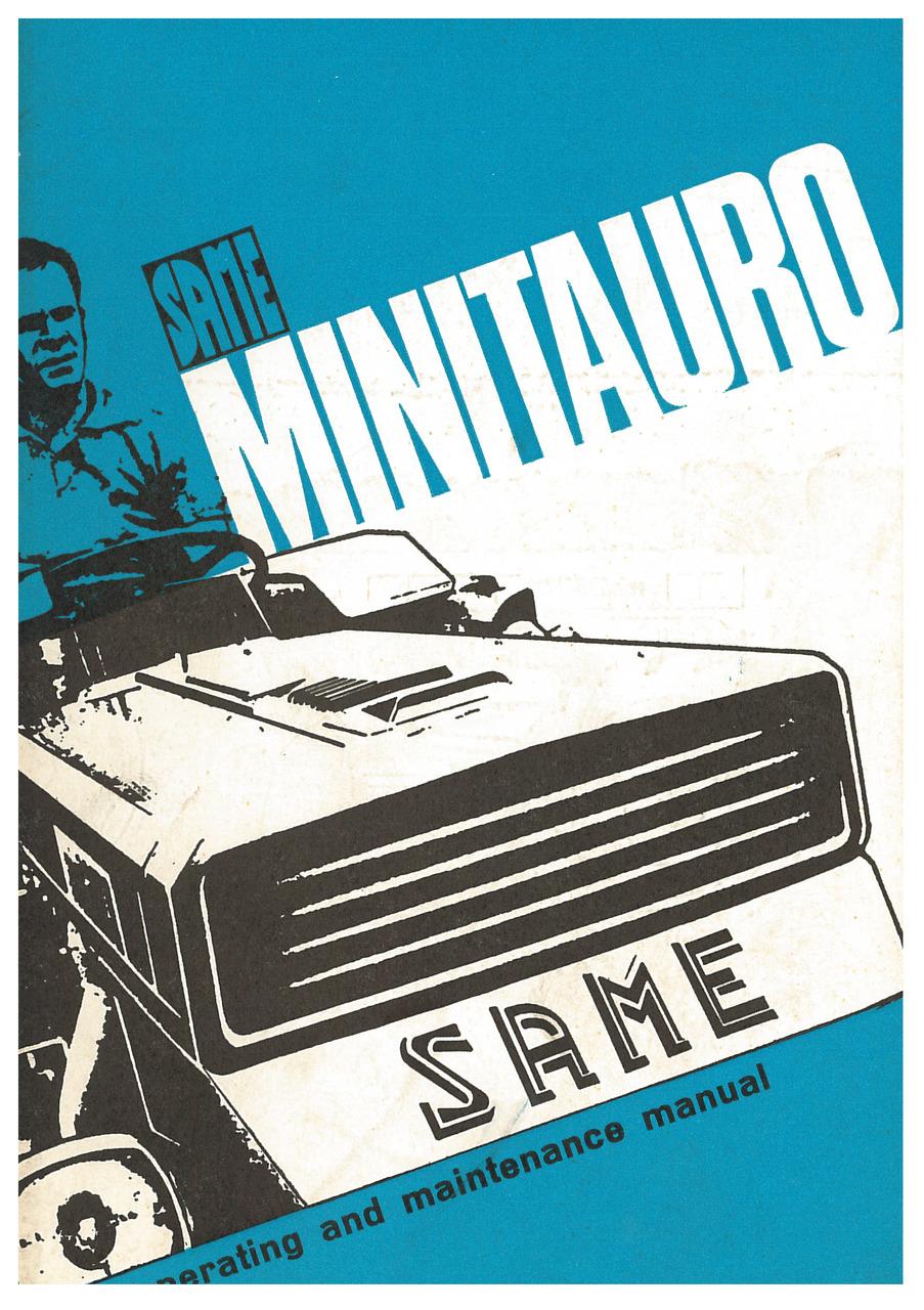 MINITAURO - Operating and maintenance