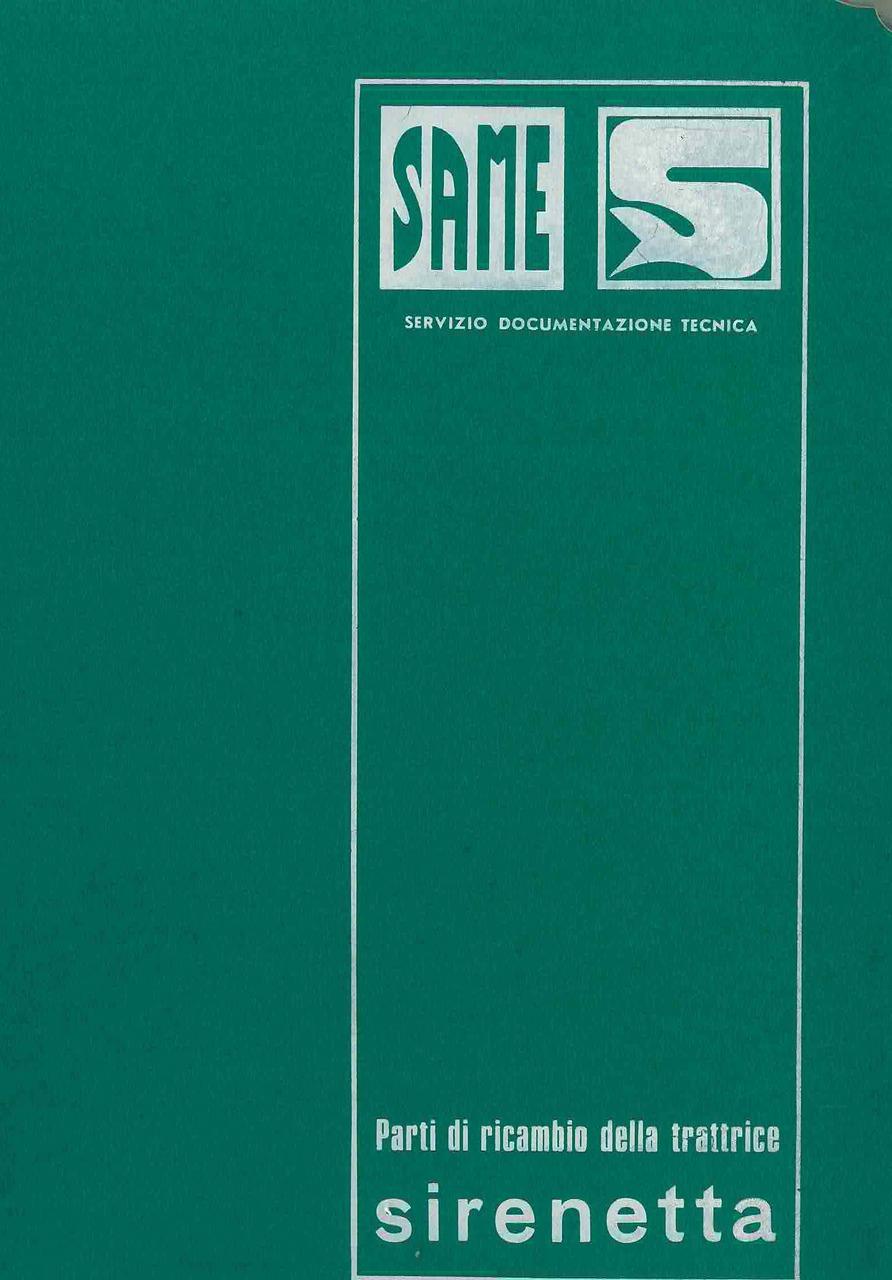 SIRENETTA - Catalogo ricambi originali / Catalogue pièces d'origine / Original parts catalogue / Original Ersatzteilkatalog / Catálogo repuestos originales