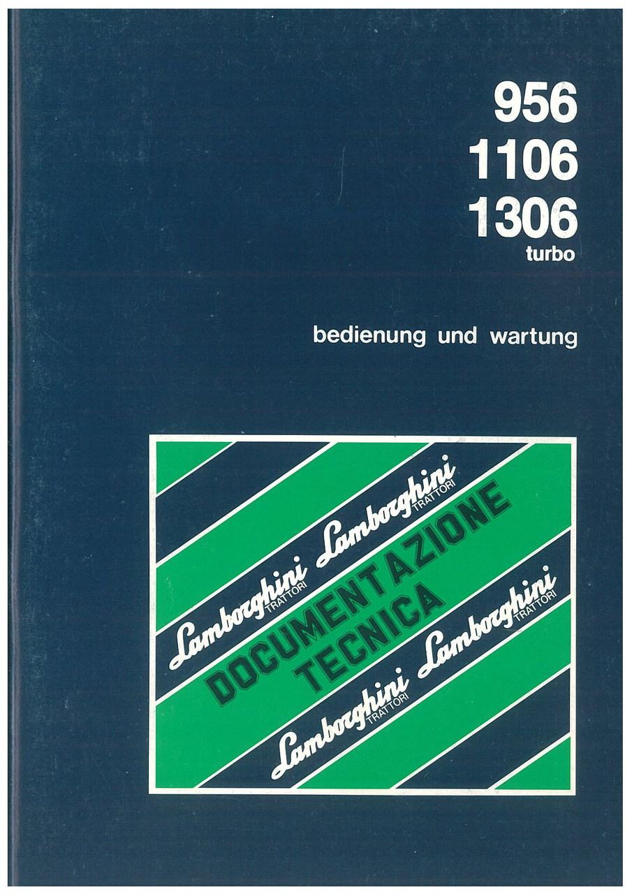 956 - 1106 - 1306 TURBO - Bedienung und Wartung