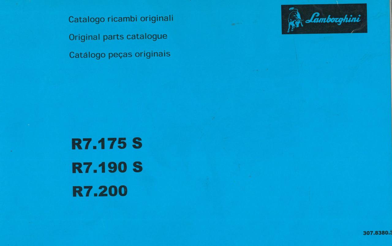 R7. 175 S - 190 S - 200 - Catalogo ricambi originali / Original parts catalogue / Catalogo peças originais