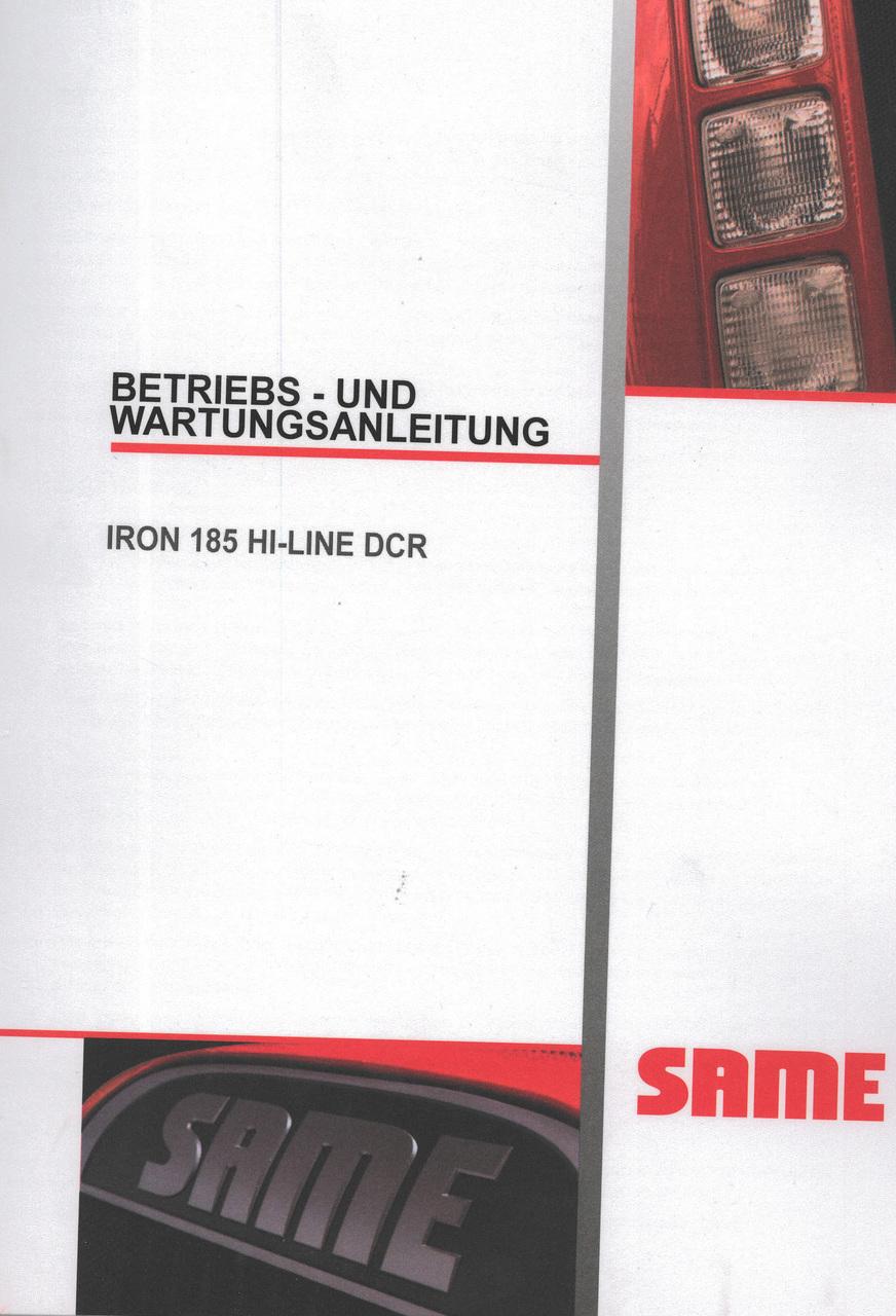 IRON 185 HI-LINE DCR - Betriebs - und Wartungsanleitung