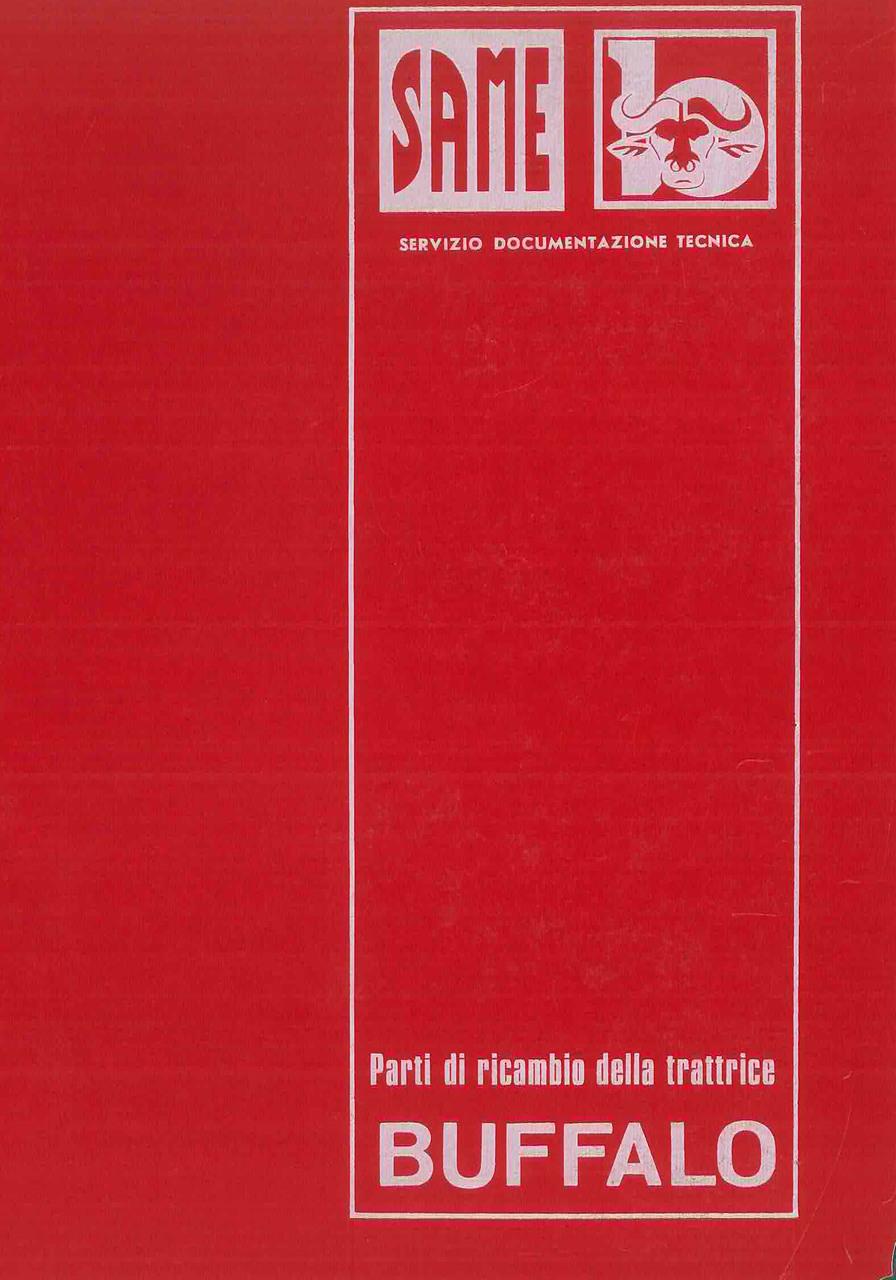 BUFFALO - Catalogo Parti di Ricambio / Catalogue de pièces de rechange / Spare parts catalogue / Ersatzteilliste / Lista de repuestos
