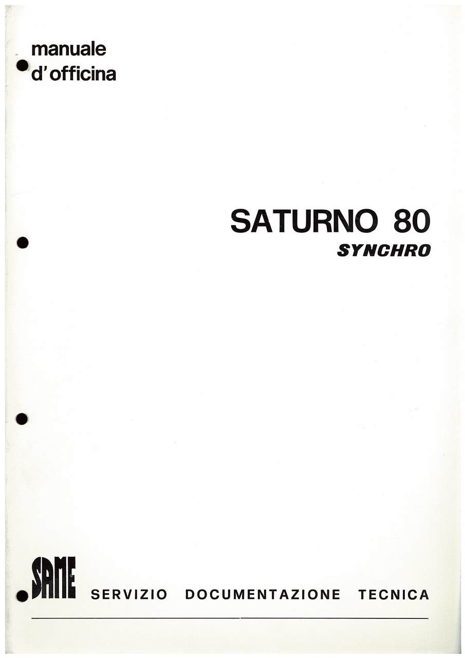 SATURNO 80 SYNCRHO - Manuale d'officina