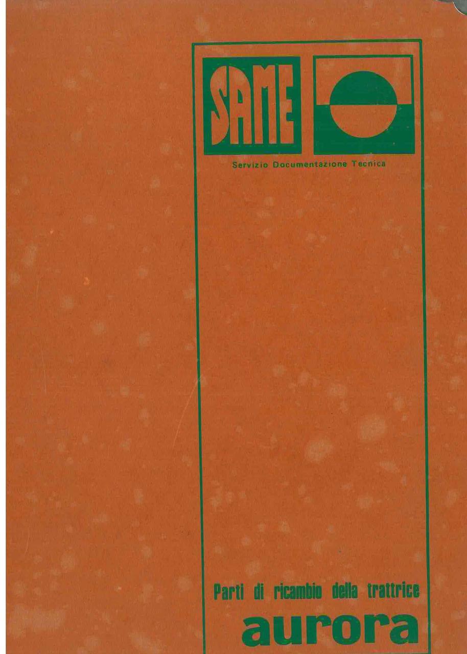 AURORA - Catalogo ricambi originali / Catalogue pièces d'origine / Original parts catalogue / Original Ersatzteilkatalog / Catálogo repuestos originales
